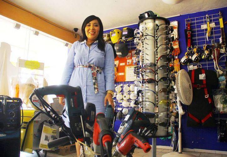 Alelí Romero reconoció que Yucatán está viviendo un buen momento en el autoempleo. (Milenio Novedades)