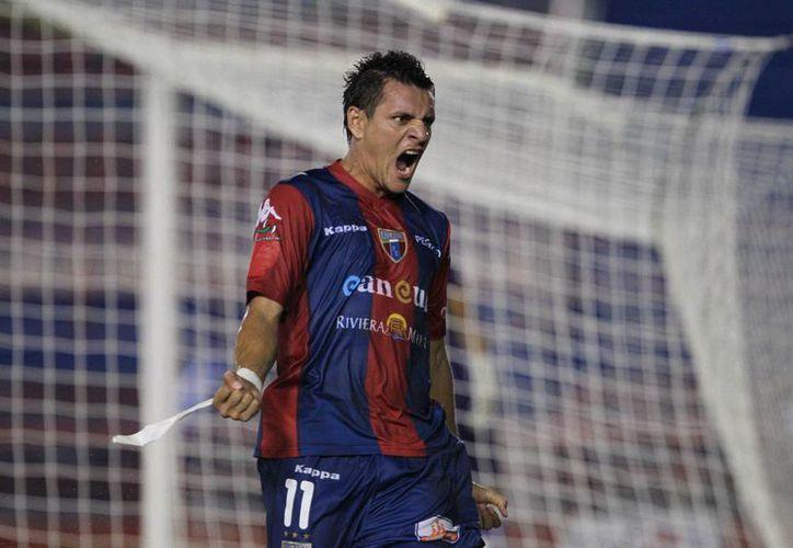 El delantero ecuatoriano y goleador del Atlante. (Redacción/SIPSE)