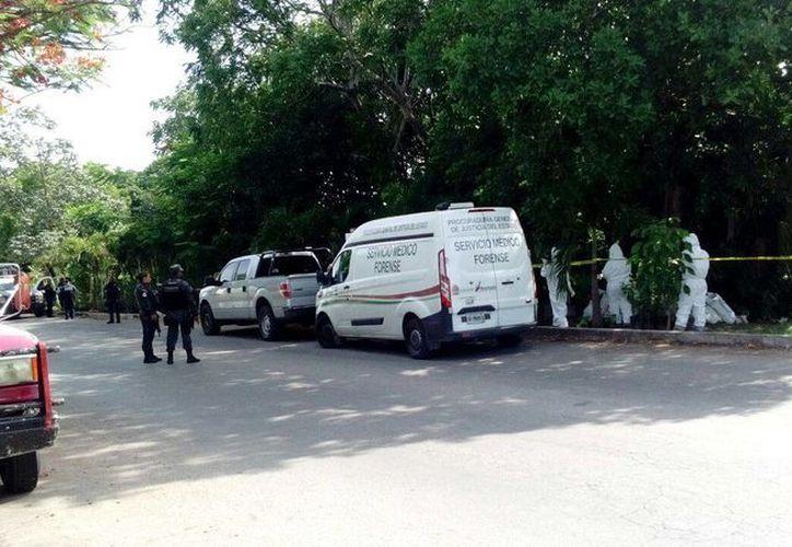 Elementos del Servicio Médico Forense y de la Gendarmería se encuentran inspeccionando el lugar. (Eric Galindo/SIPSE)