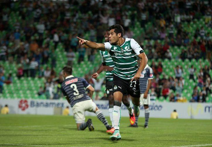 'Chuletita' Orozco abrió el marcador para el Santos. (Foto: Jam Media)