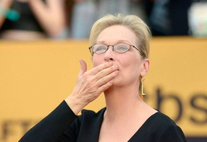 Meryl Streep, tres veces ganadora del Oscar, estará en la edición 2015 de los premios a lo mejor de la cinematografía. (simplystreepmedia.com)