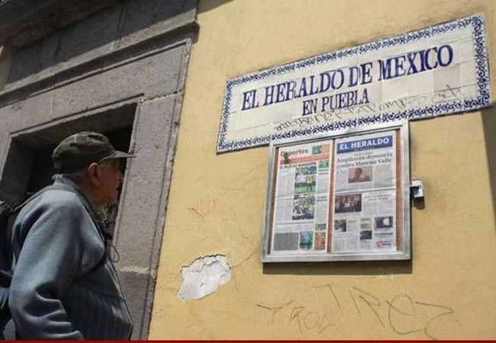 Instalaciones de El Heraldo en la ciudad de Puebla. (sinembargo.mx)
