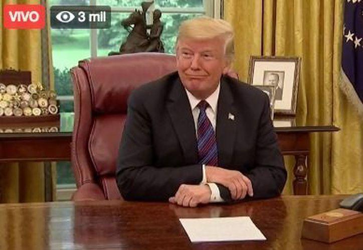 Donald Trump, mencionó que trabajar con Peña Nieto ha sido un placer. (Redacción)