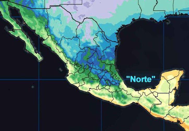 En la Península de Yucatán las condiciones meteorológicas muestran cielo nublado. (Conagua)