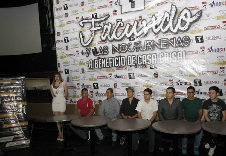 Organizadores y patrocinadores se reunieron para dar detalles del Facundo Show. (César González/SIPSE)