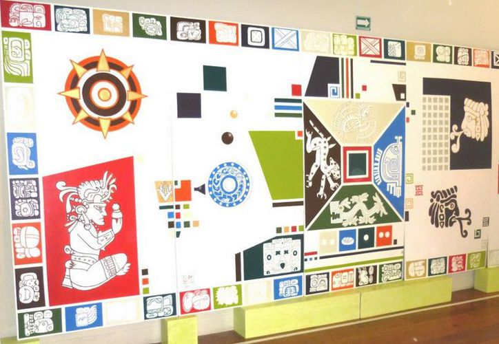 Mural colectivo sobre la cosmogonía maya. (Cortesía/SIPSE)