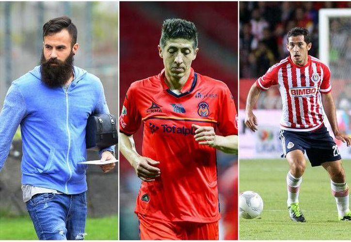 Marc Crosas, Pikolín Palacios e Israel Castro, futbolistas que en algún momento disfrutaron las mieles del éxito... pero su suerte se les acabó. (Archivo/ Mexsport)