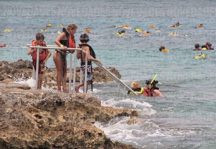 El delfinario que se construyó en el año de 1998, pudiera ser una de las causas del crecimiento de algas en los corales. (Gustavo Villegas/SIPSE)