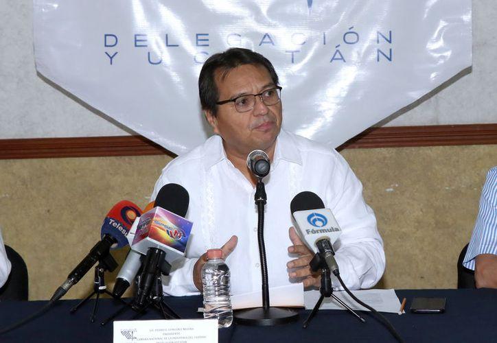 Pedro Góngora Medina, presidente de la Canaive en Yucatán. (Foto: Milenio Novedades)
