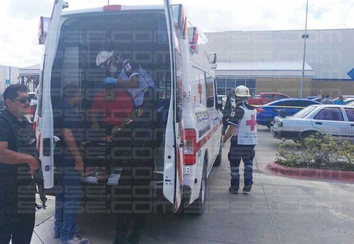 Presunto asalto deja a una persona con lesión en la cabeza. (Luis Hernández/ SIPSE)