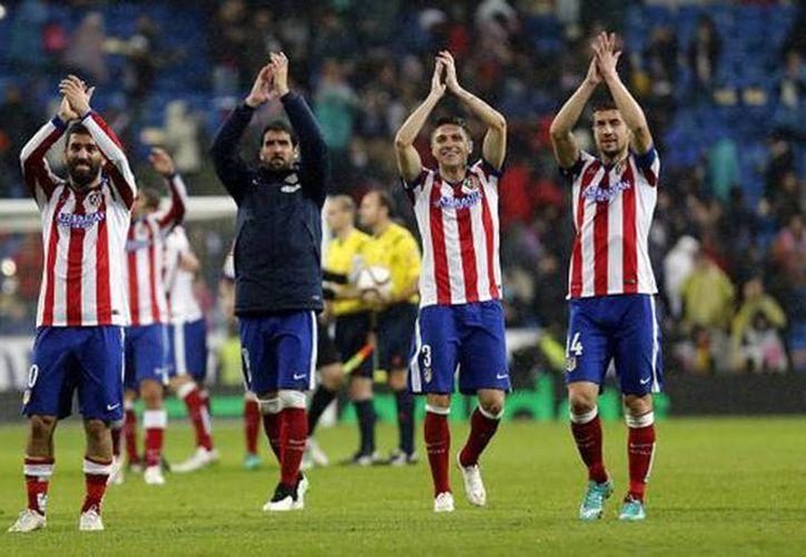 Imagen del equipo Atlético de Madrid después de un partido de futbol. (@Atleti)
