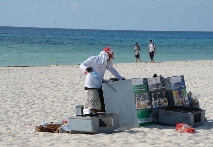 Limpiarán las playas Langosta, Tortugas, Mirador dos (Nizuc) y en Puerto Morelos. (Victoria González/SIPSE)