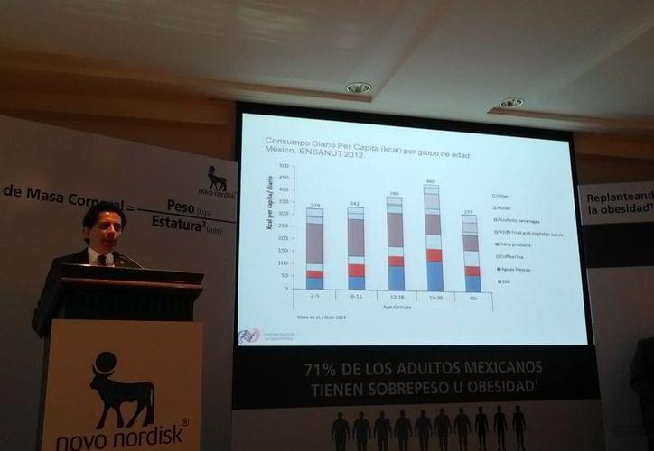 Dr. Juan Gabriel Cendales, director médico de la organización Novo Nordisk: conforme aumenta un Índice de masa corporal (IMC) disminuye expectativa de vida. (Milenio Novedades)