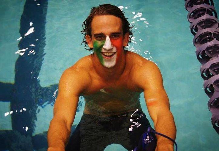 El joven atleta obtuvo el récord Nacional en 100 metros libres, en nacional de Curso Largo de Guadalajara. (Ángel Mazariego/SIPSE)