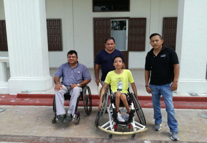 Solicitan 12 sillas de ruedas nuevas para  competir en las próximas justas deportivas como la Paralimpiada Nacional. (Miguel Maldonado/SIPSE)