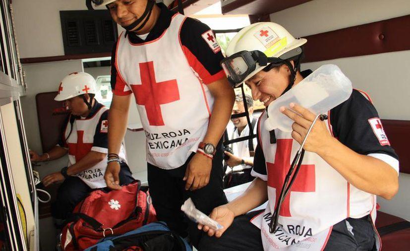 Este martes la Cruz Roja celebró en Mérida el Día del Socorrista. (Fotos: Jorge Acosta/Milenio Novedades)
