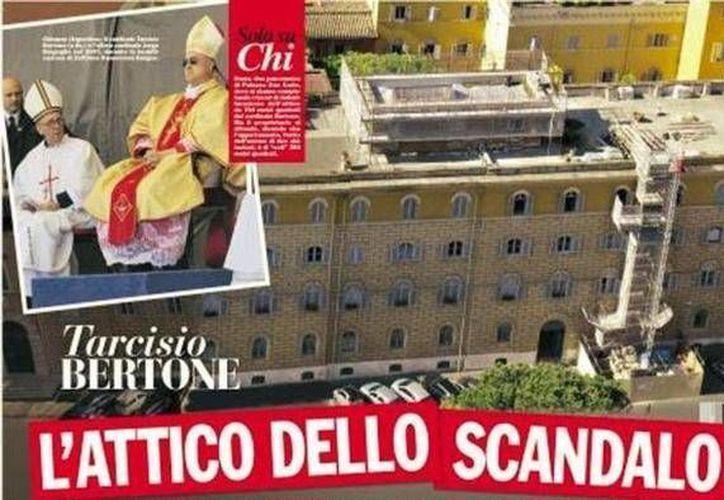 El departamento del cardenal Tarcisio Bertone en las revistas italianas. (Foto: www.lastampa.it)