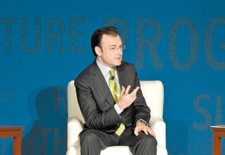 Luis Videgaray confió en que el próximo año sea de recuperación económica. (Milenio)