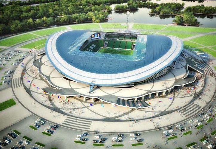 Así lucirá el estadio de la ciudad de Kazán en Rusia. (Foto: Especial)
