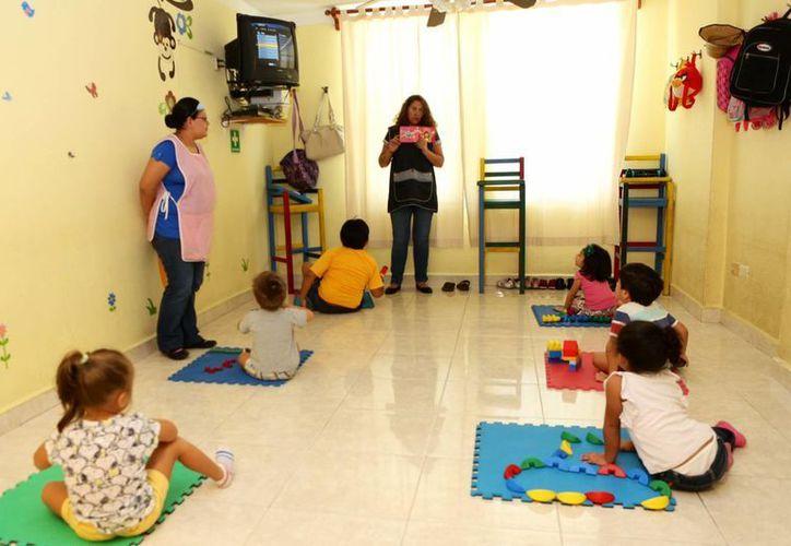 Invierten más de 30 millones de pesos para la construcción de las  estancias infantiles. (Harold Alcocer/SIPSE)