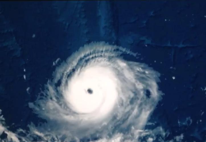 El tifón Noru tenía vientos sostenidos de 204 kilómetros por hora. (Captura de Pantalla).