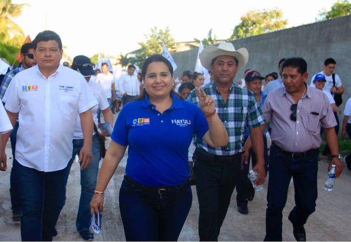 La candidata Mayuli Martínez Simón buscará que el salario se duplique para beneficio de los mexicanos. (Foto: Redacción/SIPSE)
