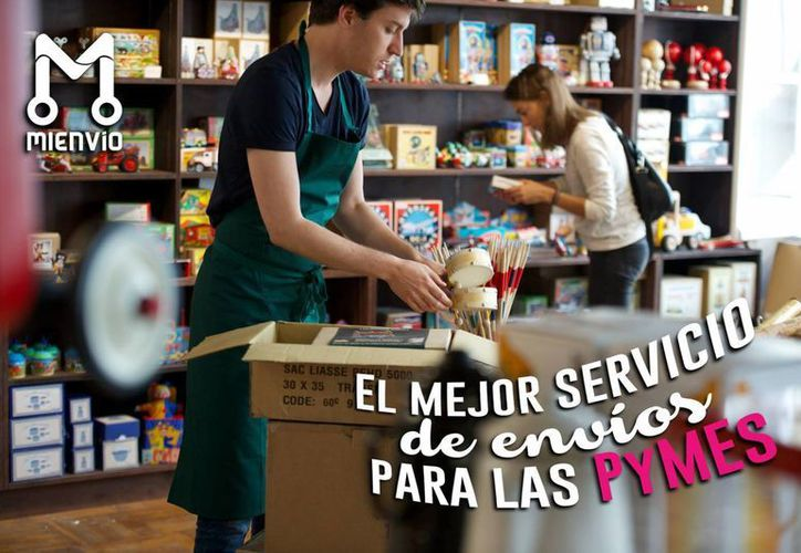 Imagen publicitaria de MiEnvio.Mx, plataforma especializada en pequeñas y medianas empresas. (Facebook)