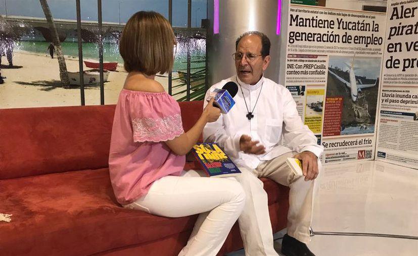 El padre Alejandro Solalinde ofreció una entrevista para el programa 'SIPSE en La Filey', el cual se transmitirá a lo largo de la semana de 17:00 a 18:00 horas, a través de Canal 2 de SIPSE.TV (Milenio Novedades)