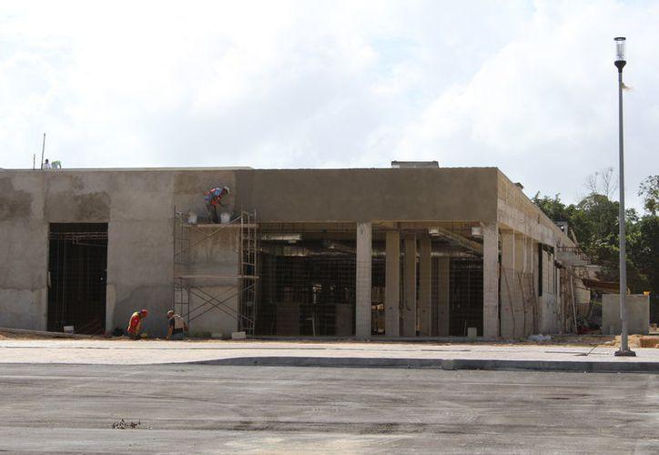Fue afectada la construcción del Hospital de Oncología en Chetumal. (Alejandra Carrión/SIPSE)