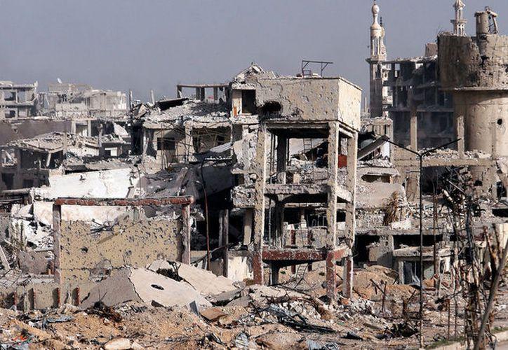 Grupos armados ilegales desde el distrito de Muhayam el Yarmuk de Damasco bombardearon en seis ocasiones. (Reuters)