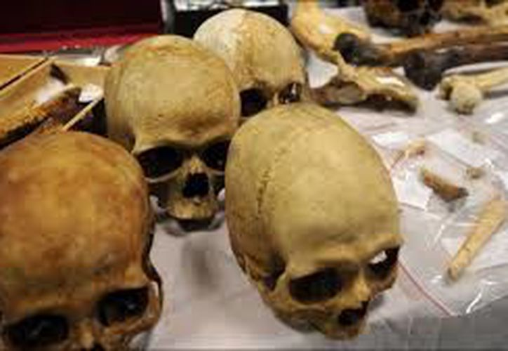 Las autoridades de Bengala encontraron 20 cráneos humanos. (BBC)