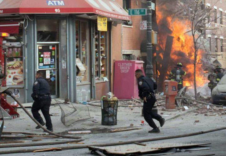 Momento exacto de la explosión que hasta ahora ha segado la vida de siete personas. (Agencias)