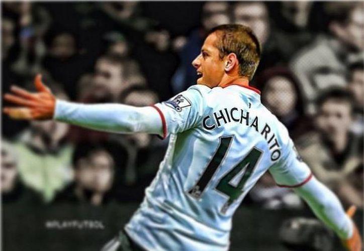 Después de tantos rumores sobre el cambio del 'Chicharito' al Valencia, no ocurrió nada, se queda en el ManU. (@CH14_instragram)