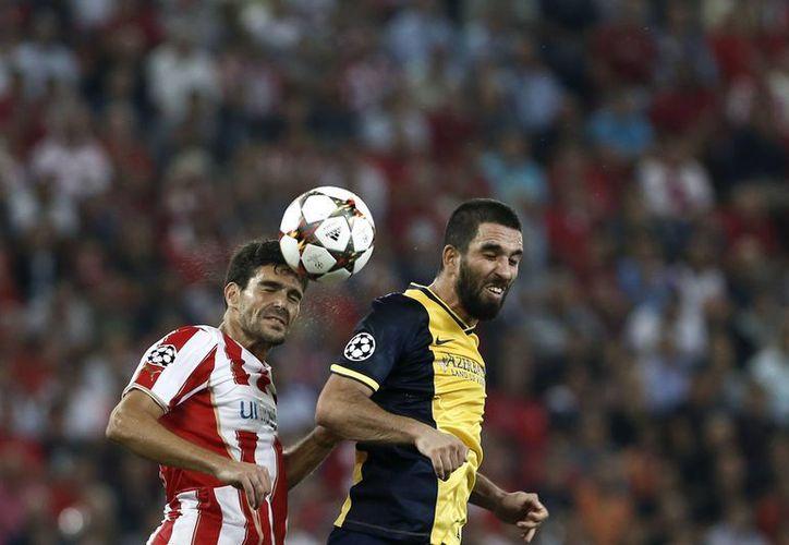 El Atlético de Madrid no pudo con los griegos. (Foto: AP)