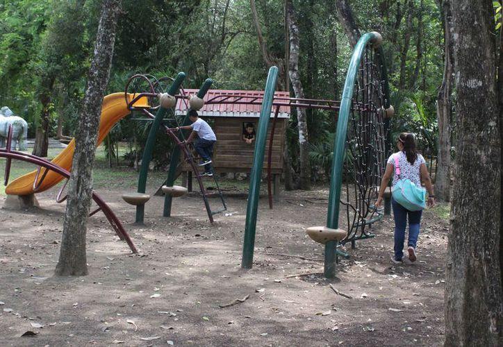 """El jardín zoológico """"Payo Obispo"""" tiene varios espacios para disfrutar. (Ángel Castilla/SIPSE)"""