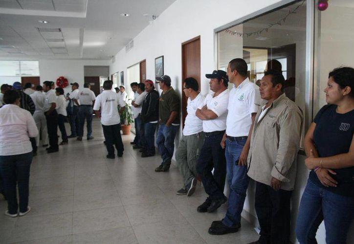 Los trabajadores se mantienen en el interior de las instalaciones de CAPA. (Octavio Martínez/SIPSE)