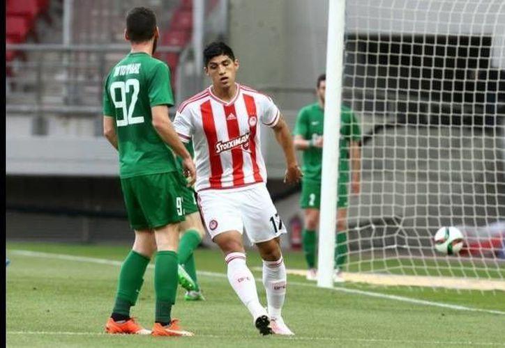 Alan Pulido fue el encargado de marcar el 1-0 para el Olympiacos, al minuto 26. (Twitter: Olympiacos)