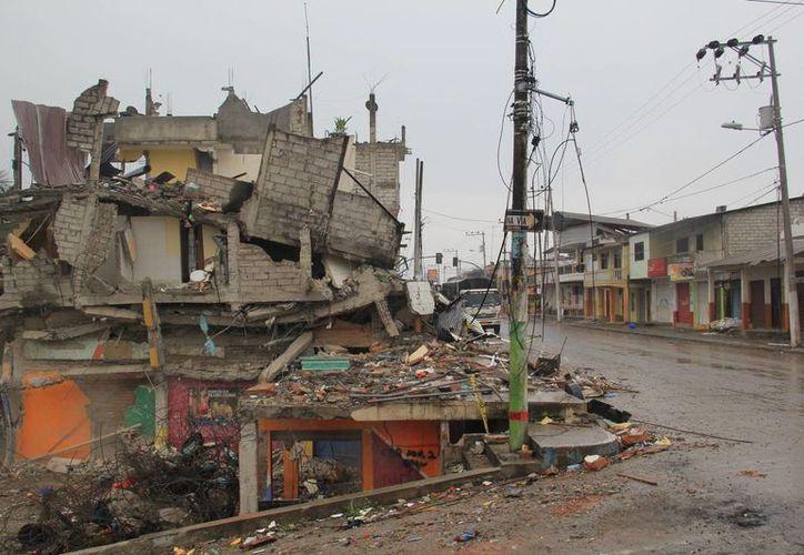 Casi siete mil edificaciones quedaron destruidas durante los sismos que afectaron a Ecuador la semana pasada. (Notimex)