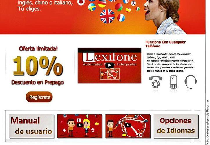 Lexifone desarrolló el sistema que funciona gracias a tres algoritmos computacionales que analizan el vocabulario. (Agencia Reforma)