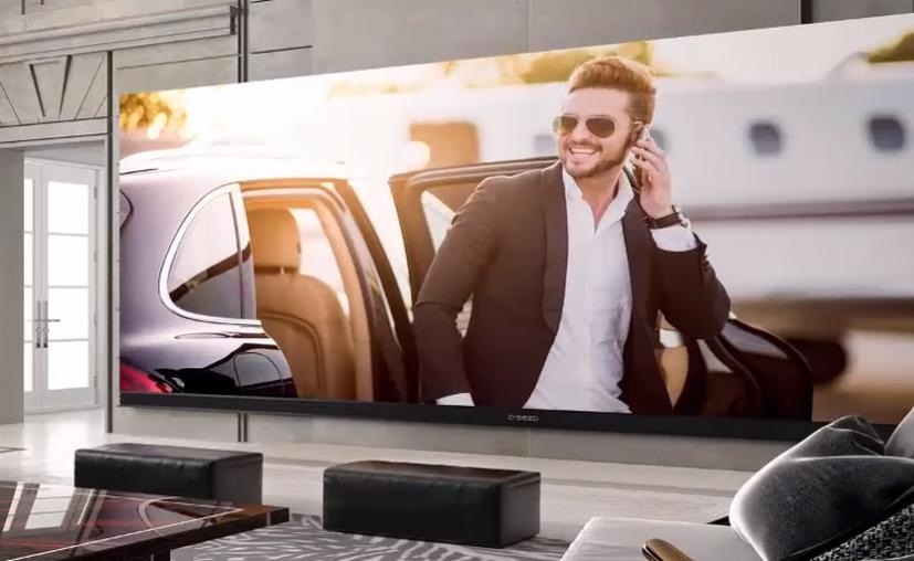 La pantalla tiene una resolución de 4096 x 1716 píxeles. (Captura Youtube).