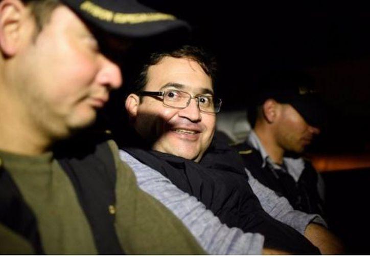 Javier Duarte se encuentra recluido en la cárcel militar de Matamoros. (Johan Ordoñez).