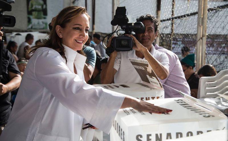 La dirigente regresará a la Ciudad de México a las instalaciones de su partido para estar al pendiente de la jornada electoral. (Redacción)