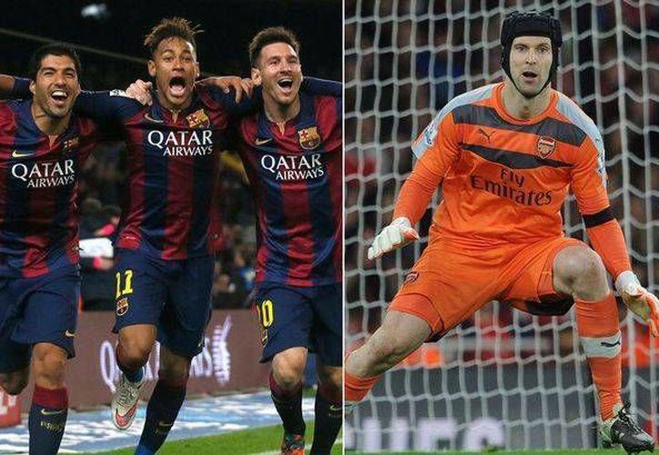 Arsenal recibe este martes al Barcelona en partido de ida de los octavos de final de la UEFA Champions League. Entre Messi, Suárez y Neymar solo dos veces le han anotado a Petr Cech, en toda su carrera. (mirror.co.uk)