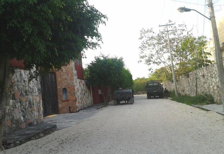Continúa presencia y vigilancia militar en rancho de Bonfil. (Redacción/SIPSE)