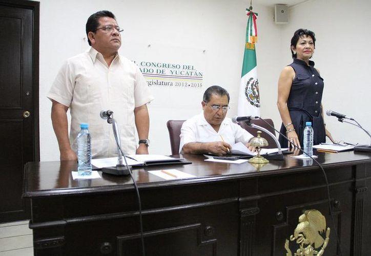 La clausura de los trabajos de la Diputación Permanente del Congreso de Yucatán. (SIPSE)