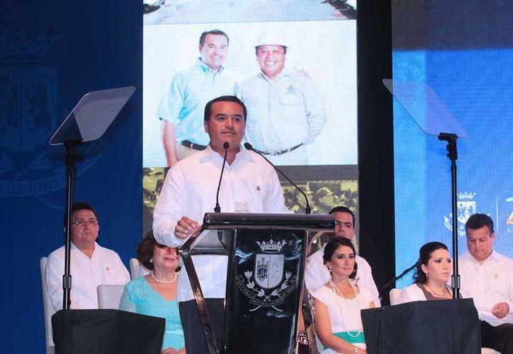 En su informe, Renán Barrera anunció nuevas acciones en pro de los meridanos y del desarrollo sustentable y ordenado de Mérida. (Cortesía)