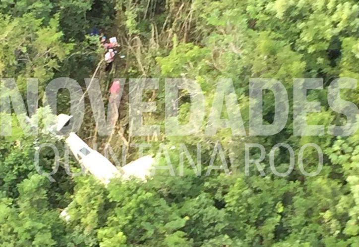 La avioneta cayó en medio de la selva, cerca de los terrenos de Calica en Playa del Carmen. (Foto: Redacción)