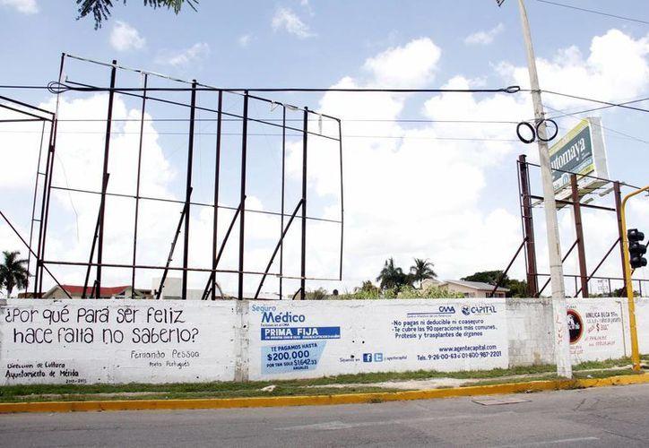 El Ayuntamiento no permitirá la colocación ilegal de más vallas y anuncios publicitarios. (Milenio Novedades)