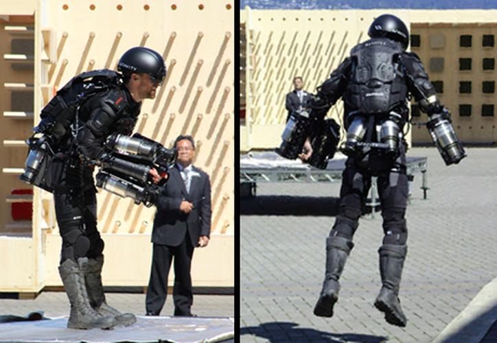 Richard Browning logró un traje con propulsar en brazos y piernas. (El Financiero)