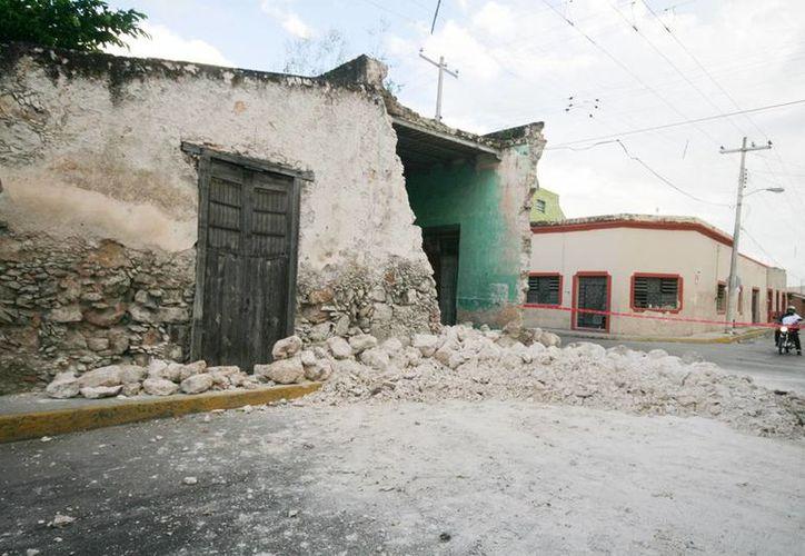 La casa derrumbada está en la calle 44 por 69 del centro de Mérida. (Jorge Sosa/Milenio Novedades)